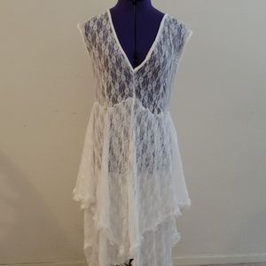 White lace dress, boho